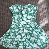 Vestido Verde Floral OLD NAVY - 6 anos - Old Navy