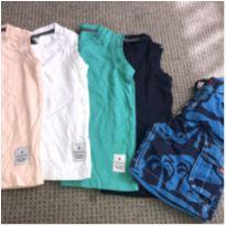 4 Camisetas + Bermuda - 2 anos - Renner