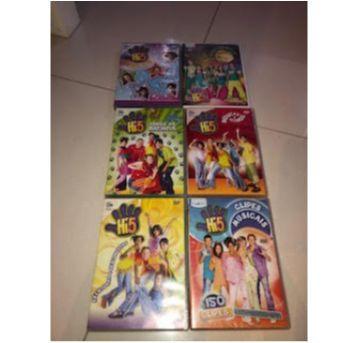 6 DVDs Hi 5 - Sem faixa etaria - Não informada
