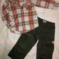 Camisa Social  Xadrez + calça cargo - 3 anos - Baby Gap e OshKosh