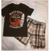 Camisa + Bermuda CARTERS Marrom - 3 anos - Carter`s