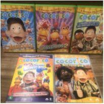 5 DVDs COCORICO -  - Não informada