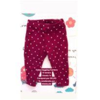 Calça legging Carters de poá vermelho escuro - 9 meses - Carter`s