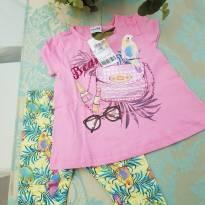 Conjunto Blusa E Capri Infantil Fakini N° 02 - com etiquetas - 2 anos - Fakini