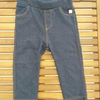 Calça infantil legging fake jeans - 6 a 9 meses - Teddy Boom