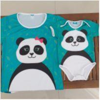 Kit body e camiseta tal mãe tal filho com proteção UV 50+ - 9 a 12 meses - Mini Boo