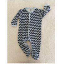 Macacão plush estampa chevron - 6 a 9 meses - Baby Club