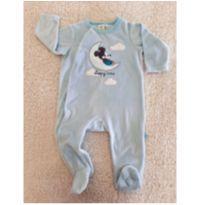 Macacão de plush Mickey azul bebê - 6 meses - Disney baby